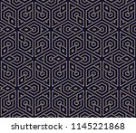 the geometric pattern with... | Shutterstock . vector #1145221868
