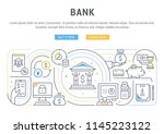 line banner of bank. vector... | Shutterstock .eps vector #1145223122