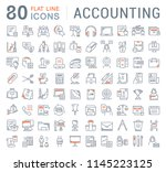 set of vector line icons of... | Shutterstock .eps vector #1145223125