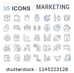 set of vector line icons of... | Shutterstock .eps vector #1145223128