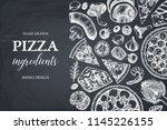 horizontal design with hand... | Shutterstock .eps vector #1145226155