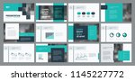 business presentation template... | Shutterstock .eps vector #1145227772