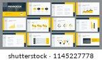 business presentation template... | Shutterstock .eps vector #1145227778