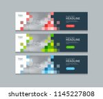 abstract horizontal  web banner ... | Shutterstock .eps vector #1145227808