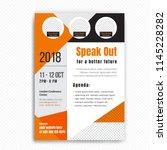 business conference brochure... | Shutterstock .eps vector #1145228282