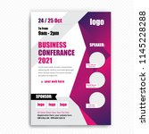 business conference brochure... | Shutterstock .eps vector #1145228288