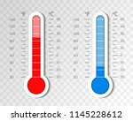thermometer equipment showing... | Shutterstock .eps vector #1145228612