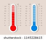 thermometer equipment showing... | Shutterstock .eps vector #1145228615