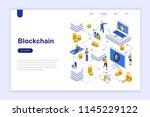 Blockchain Modern Flat Design...