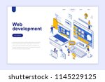 web development modern flat...