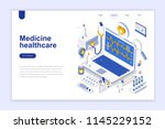 medicine and healthcare modern... | Shutterstock .eps vector #1145229152