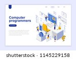 computer programmers modern... | Shutterstock .eps vector #1145229158