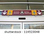 overhead airport terminal... | Shutterstock . vector #114523048