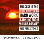 inspirational success quote on... | Shutterstock . vector #1145231978