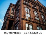historic building with big... | Shutterstock . vector #1145233502