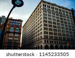 old building exterior with... | Shutterstock . vector #1145233505