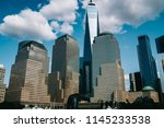 cityscape with high skyscrapers ... | Shutterstock . vector #1145233538