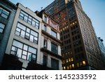 exterior of modern constructed... | Shutterstock . vector #1145233592