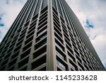 perspective view of tall... | Shutterstock . vector #1145233628