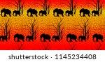 Batik Tiger Pattern With Cute...