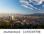 aerial view of downtown taipei  ... | Shutterstock . vector #1145234708