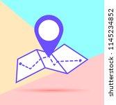 map icon in trendy flat minimal ...