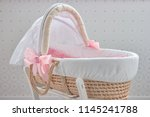 soft baby basket. big beautiful ... | Shutterstock . vector #1145241788