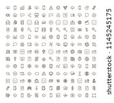 network icon set. collection of ... | Shutterstock .eps vector #1145245175