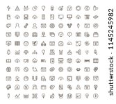 machine learning icon set.... | Shutterstock .eps vector #1145245982