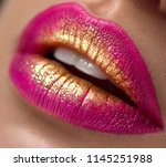 lips make up. beauty high... | Shutterstock . vector #1145251988