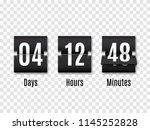 black countdown timer with... | Shutterstock .eps vector #1145252828