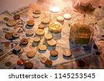 sand running through the shape... | Shutterstock . vector #1145253545