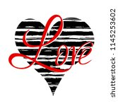 love template for card or... | Shutterstock .eps vector #1145253602