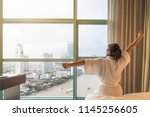easy lifestyle asian woman...   Shutterstock . vector #1145256605