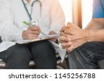 male patient having... | Shutterstock . vector #1145256788