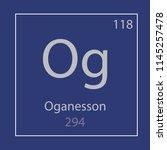 oganesson og chemical element...   Shutterstock .eps vector #1145257478