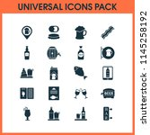 beverages icons set with elite... | Shutterstock .eps vector #1145258192