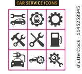 car service and repair icons... | Shutterstock .eps vector #1145258345