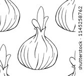 young onion seamless pattern....   Shutterstock .eps vector #1145258762