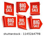 sale banner set. realistic red... | Shutterstock .eps vector #1145264798