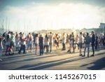 vintage motion blurred diverse...   Shutterstock . vector #1145267015