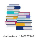 color books stack flat... | Shutterstock .eps vector #1145267948