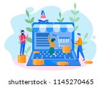 order confirmation  online... | Shutterstock .eps vector #1145270465