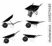 wheelbarrow multiple views and... | Shutterstock .eps vector #1145274185
