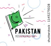 pakistan independence day. 14th ... | Shutterstock .eps vector #1145275028