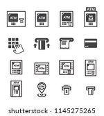 atm icon set | Shutterstock .eps vector #1145275265