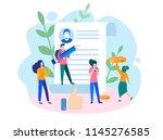 concept blog content  blogging  ... | Shutterstock .eps vector #1145276585