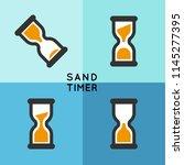 sand timer or sand clock... | Shutterstock .eps vector #1145277395