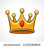 vector illustration of crown on ... | Shutterstock .eps vector #1145284865