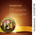 beautiful gluten free design.... | Shutterstock .eps vector #114528748